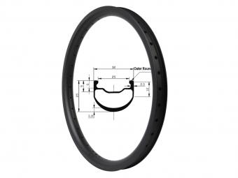 20 Inch 406 Carbon 32mm Tubeless Bmx Rims